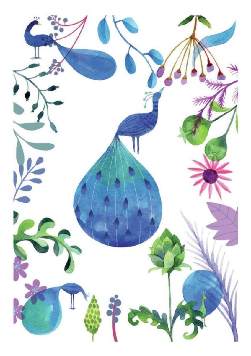 Watercolour Peacocks