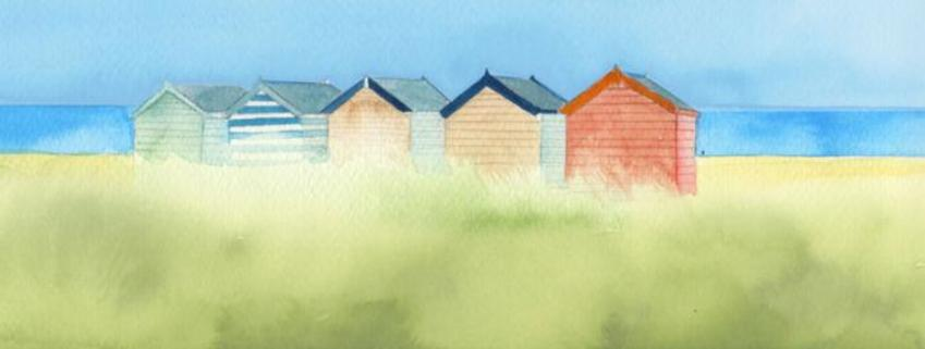 Coastline Beach Hut Mug Design 3