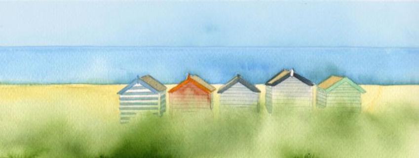 Coastline Beach Hut Mug Design 4