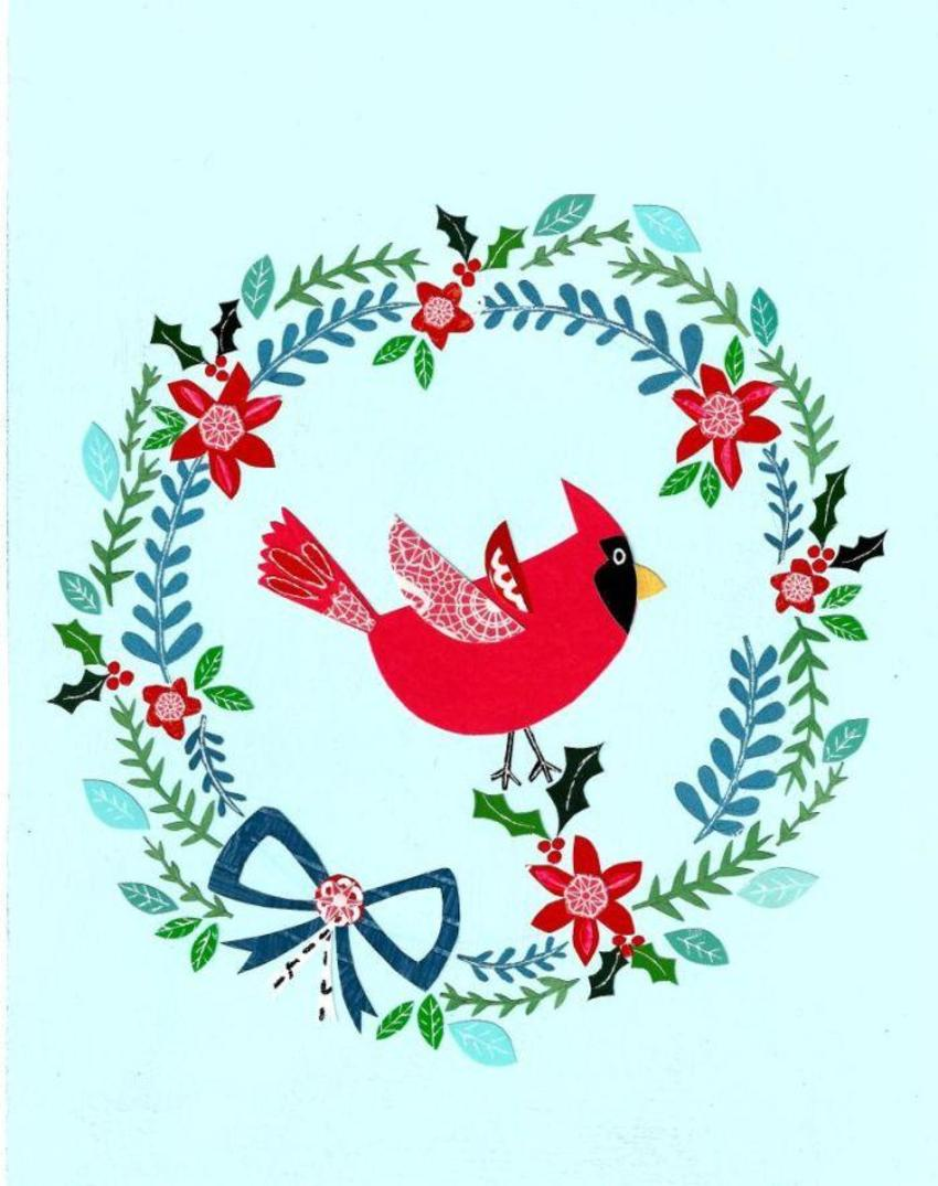 PT - Papermagic Cardinal Wreath