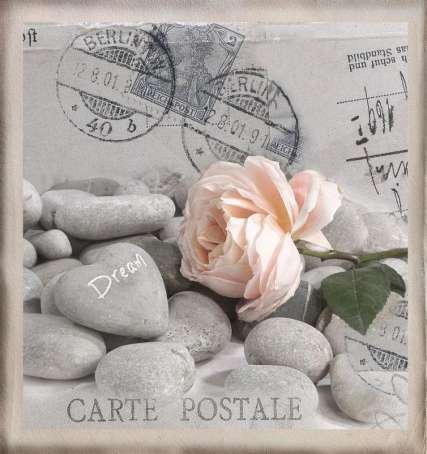 Postcard Greeting Card Rose LMN41073