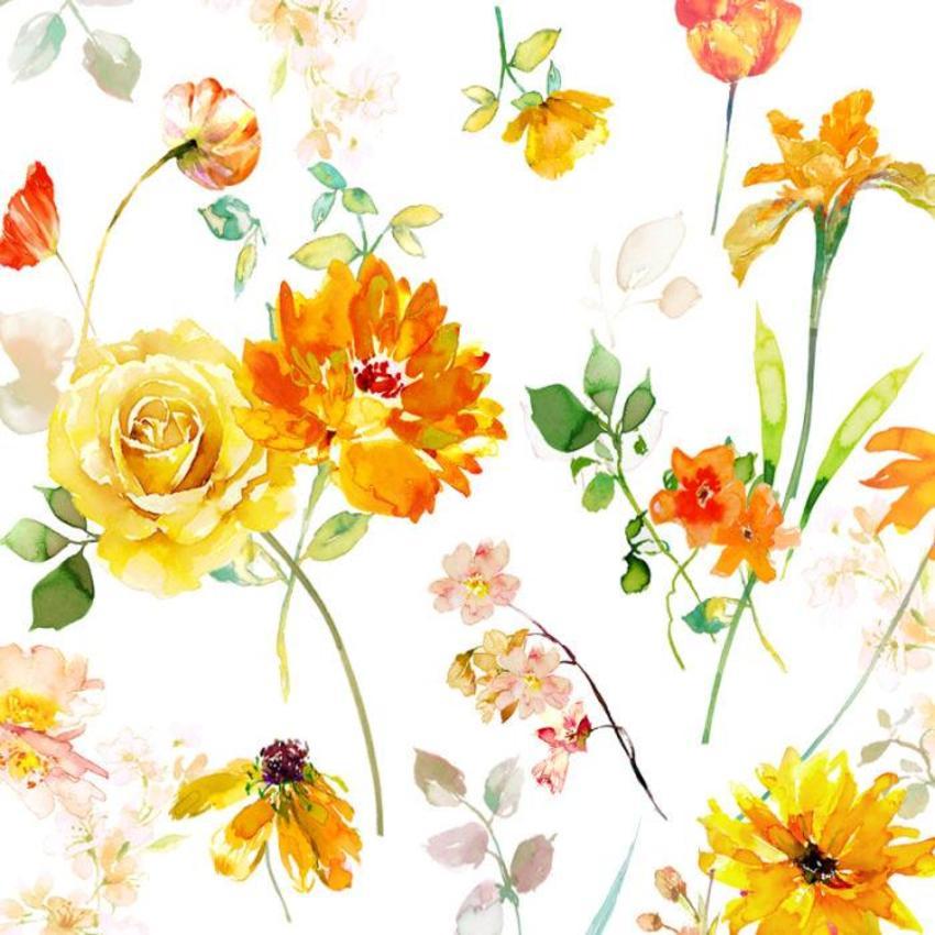 Square Yellow Orange Floral Copy Copy