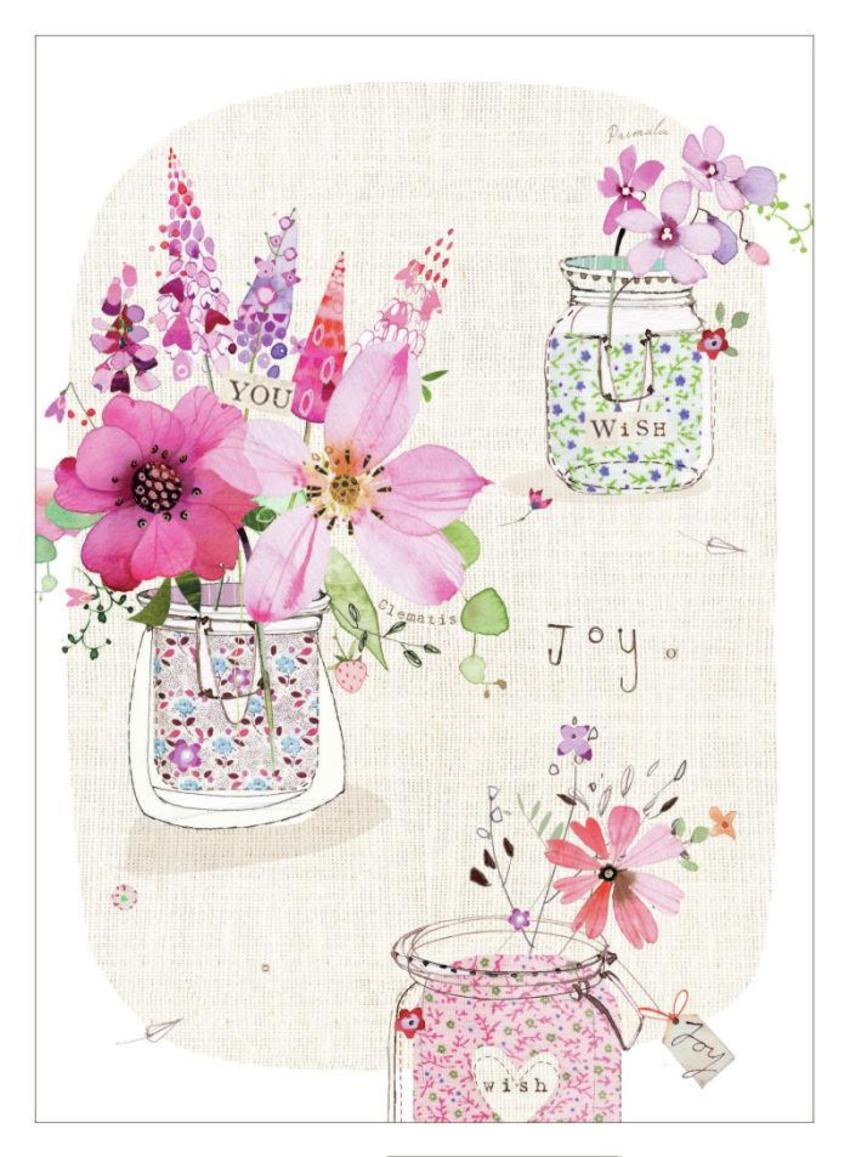 Small Floral Jars