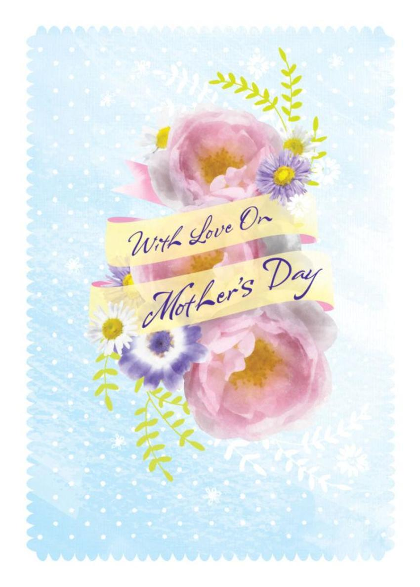 Female Birthday Mothers Day Thinking Of You Floral Flowers And Banner