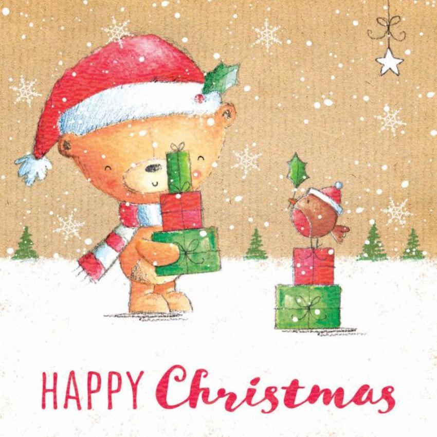 Christmas Bear And Presents