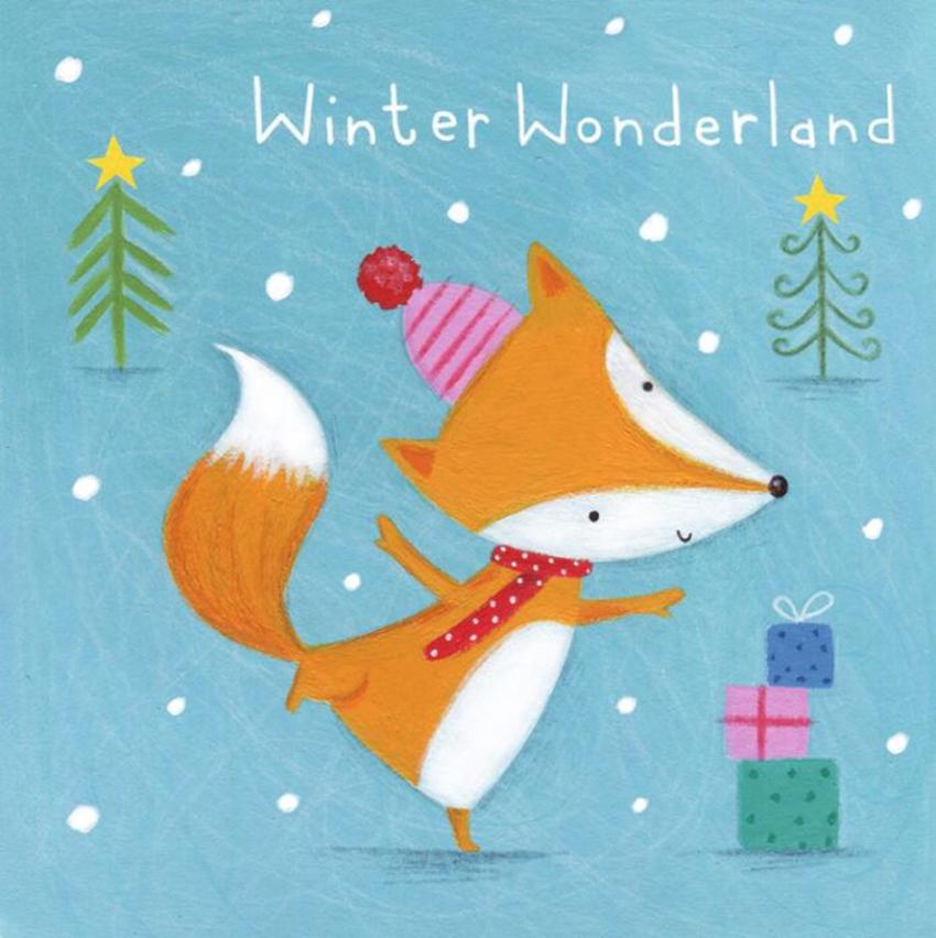 Christmas Fox Tree Snow