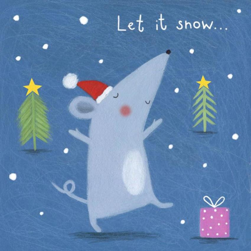 Christmas Mouse Tree Snow