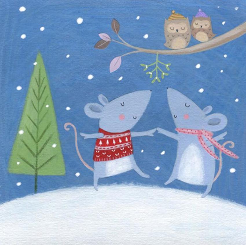Christmas Mouse Snow Owls
