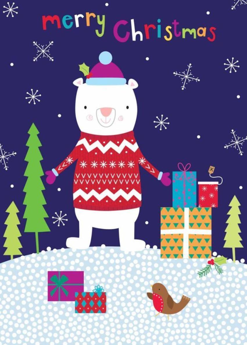 Polar Bear And Presents