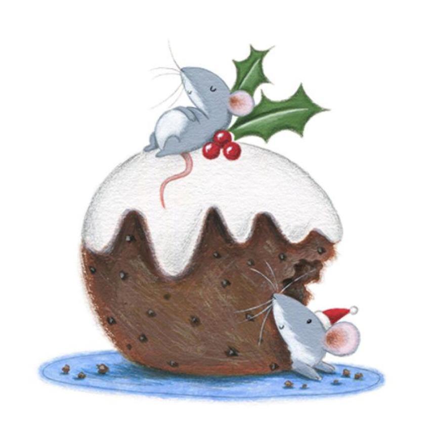 Christmas Pudding Mouse