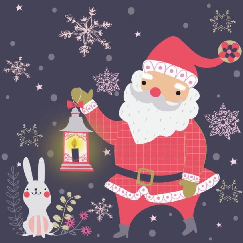 Christmas Card - GM_Santa And Bunny