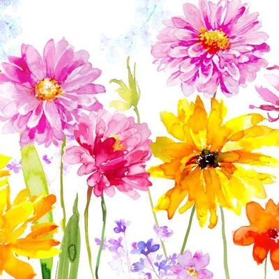 pink-yellow-orange-flowers-psd