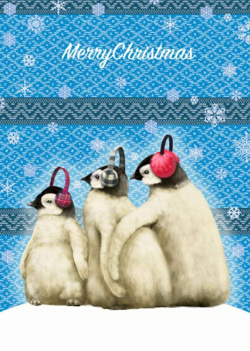 Xmas-Animals-cards-penguin