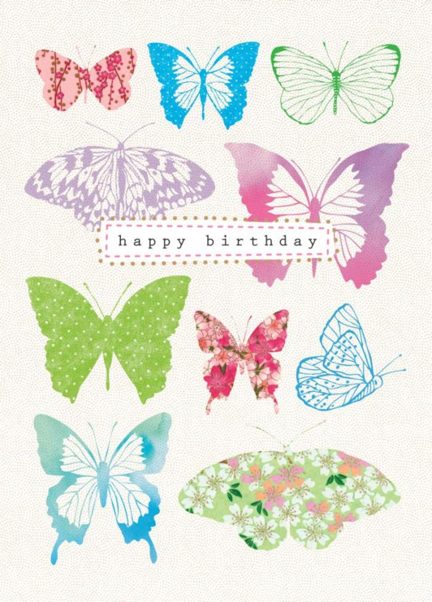 Female Birthday Mothers Day Patterned Butterflies