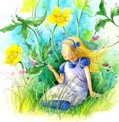 available-all-birthday-thank-you-card-alice-in-wonderland-girl-flower-cute