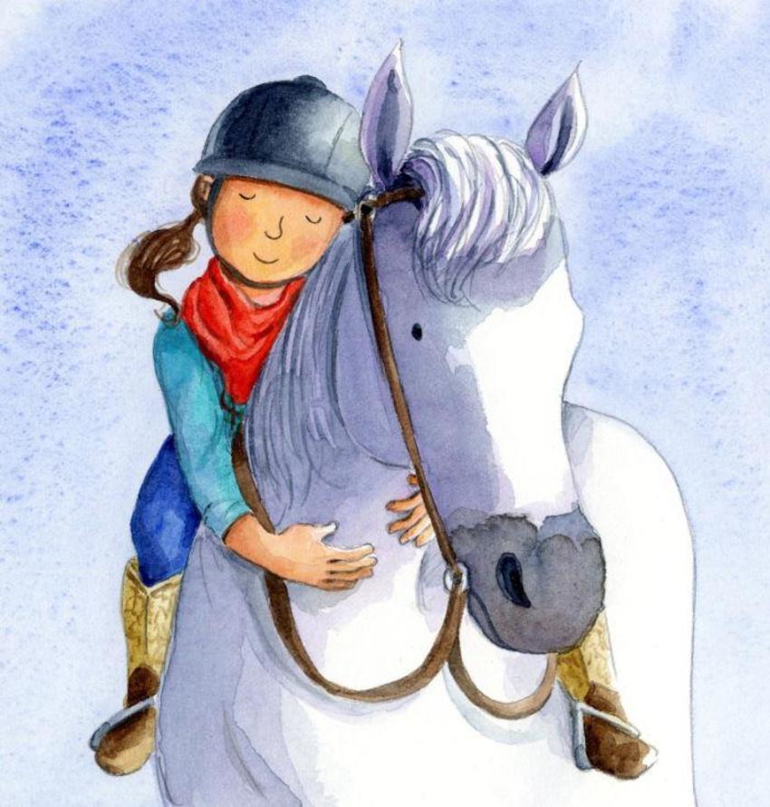 Published Horse Pony Girl Cute Hug Cuddle