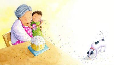 published-boy-dog-grandma-baking-cake-cute