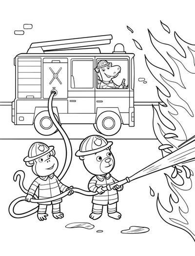 line-artwork-igloo-fireman