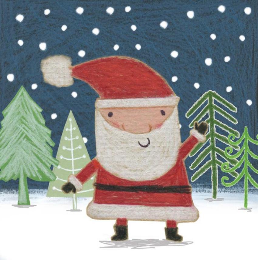 Christmas Santa Trees Snow