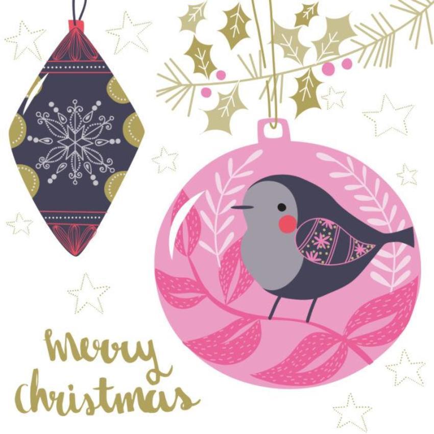 Christmas Card - GM_Bird Baubles