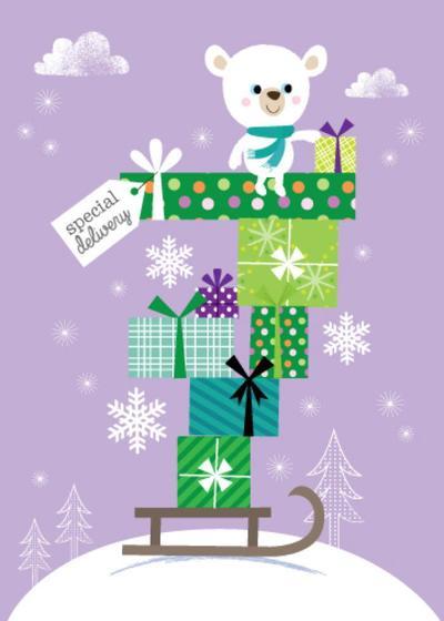 acw-polar-bear-christmas-presents-sled-sledge-snow