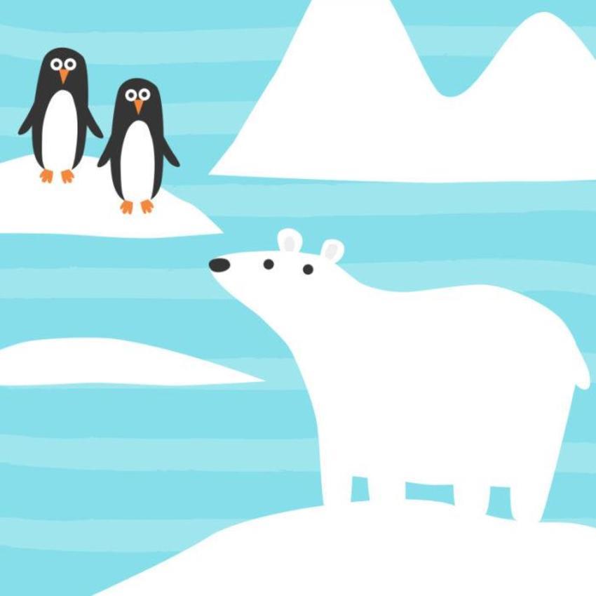Animals_polarbear_penguins