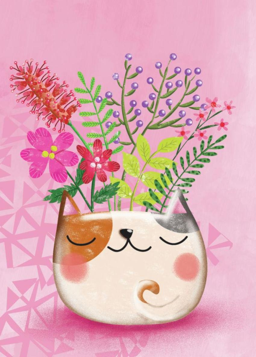 Cat Pot Plant - GM