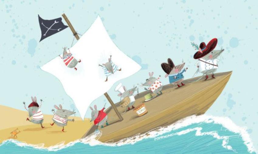 Pirate Rats Book Illustration