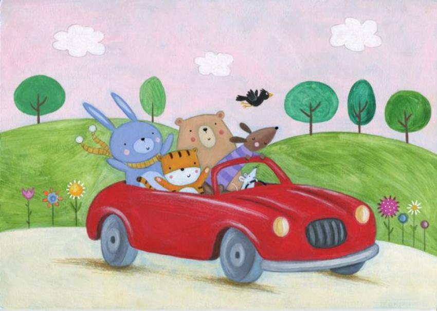 Car Animals Trees