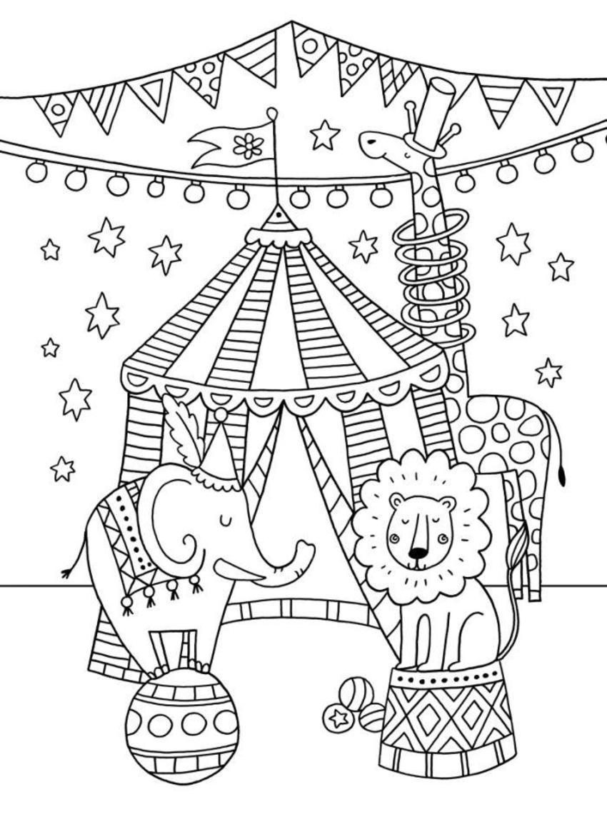Circus-colouring-card