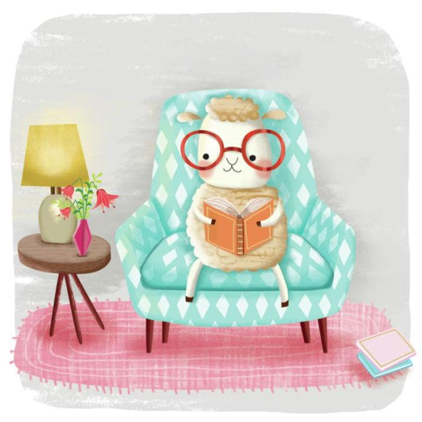 Sheep Reading Book - GM