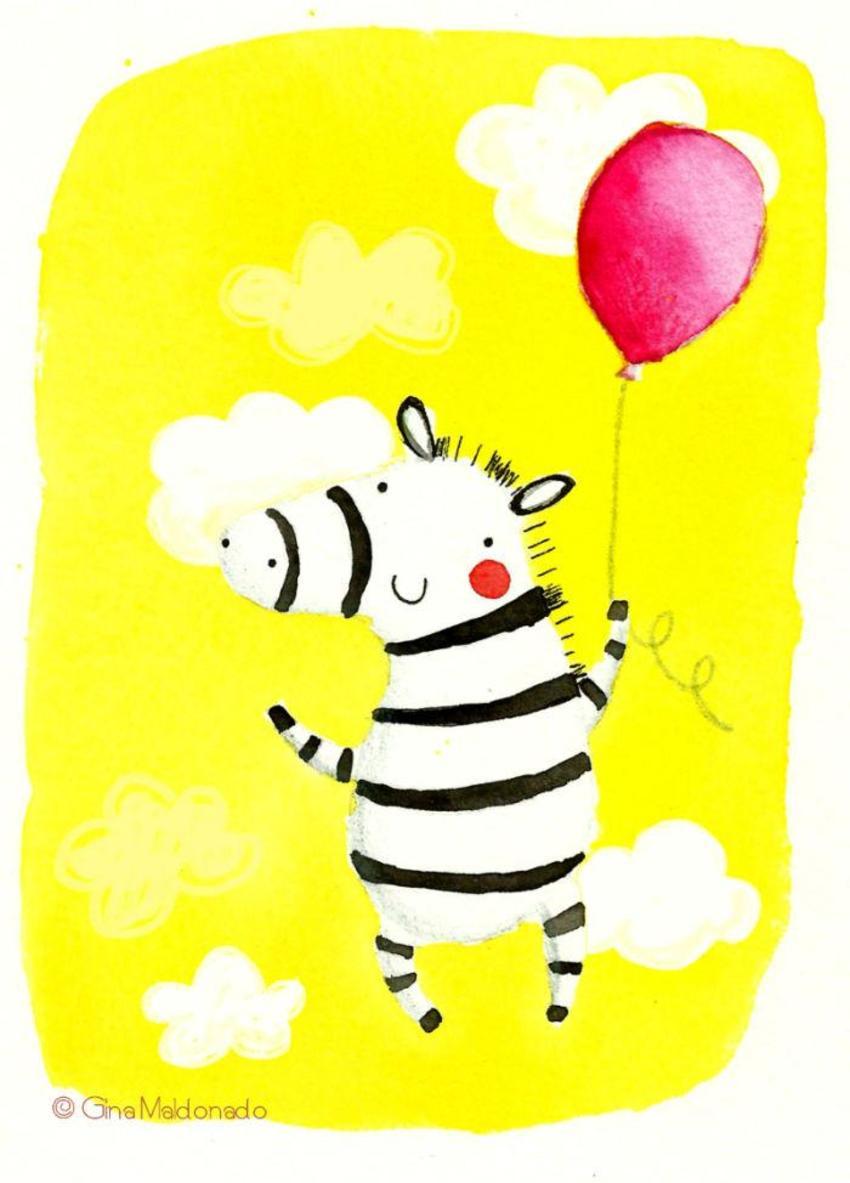 Zebra And Ballon - GM