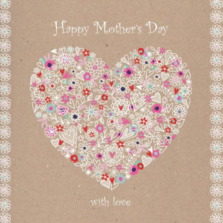 Mothers Day Floral Filled Heart