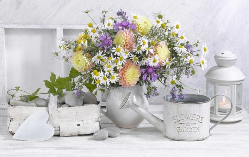 Poster Still Life Flowers Lamp Garden LMN40218