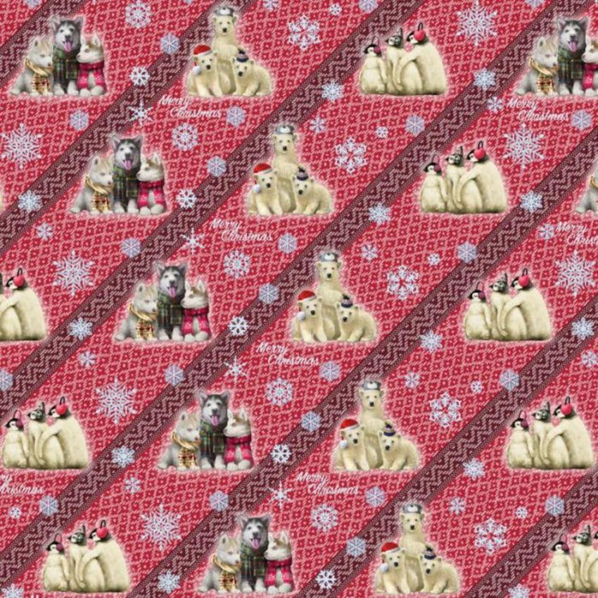 Gift Wrap Xmas Animals