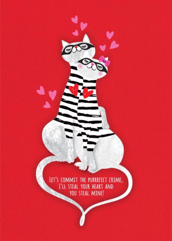 Valentines Day Love Cats Cat Burgulars