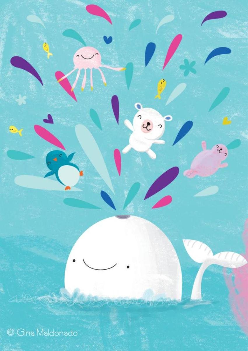Happy Whale And Animals - GM