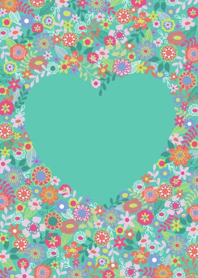 floral-heart-diary-cover