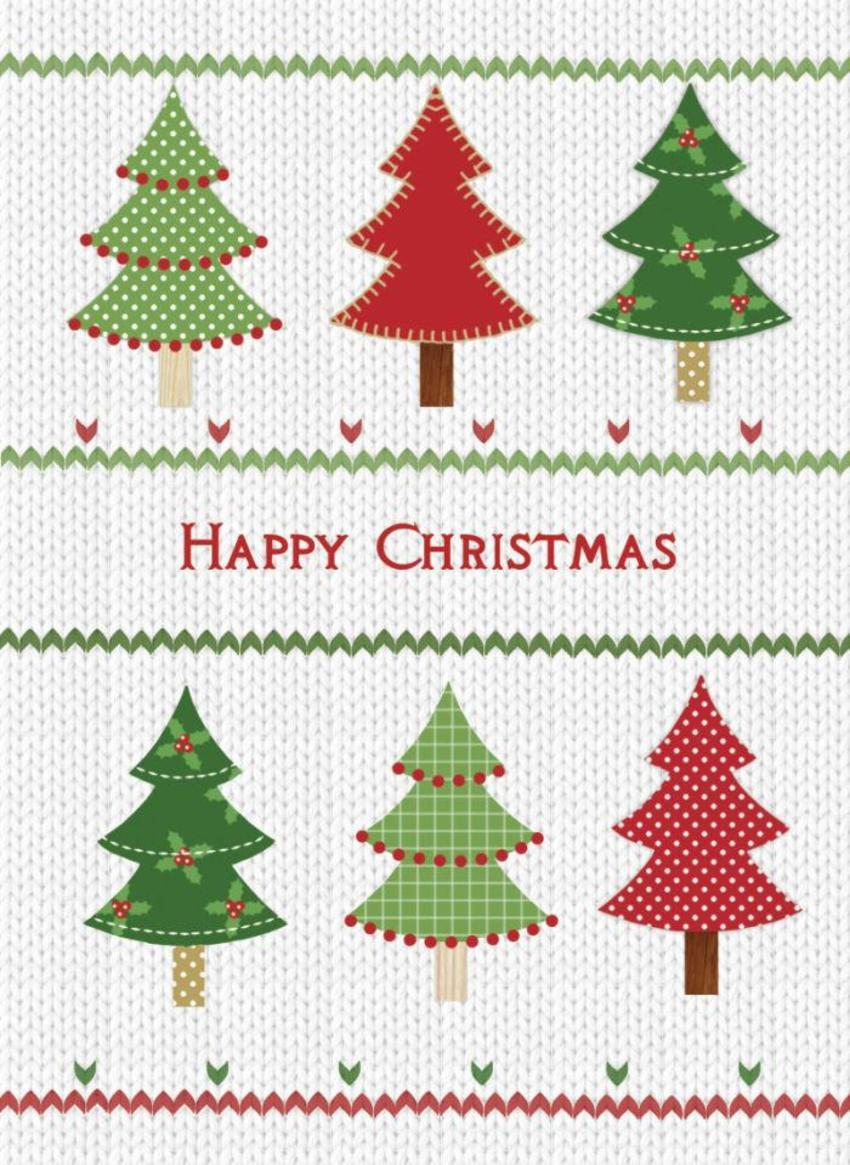 NT01 Trees Christmas Card 4