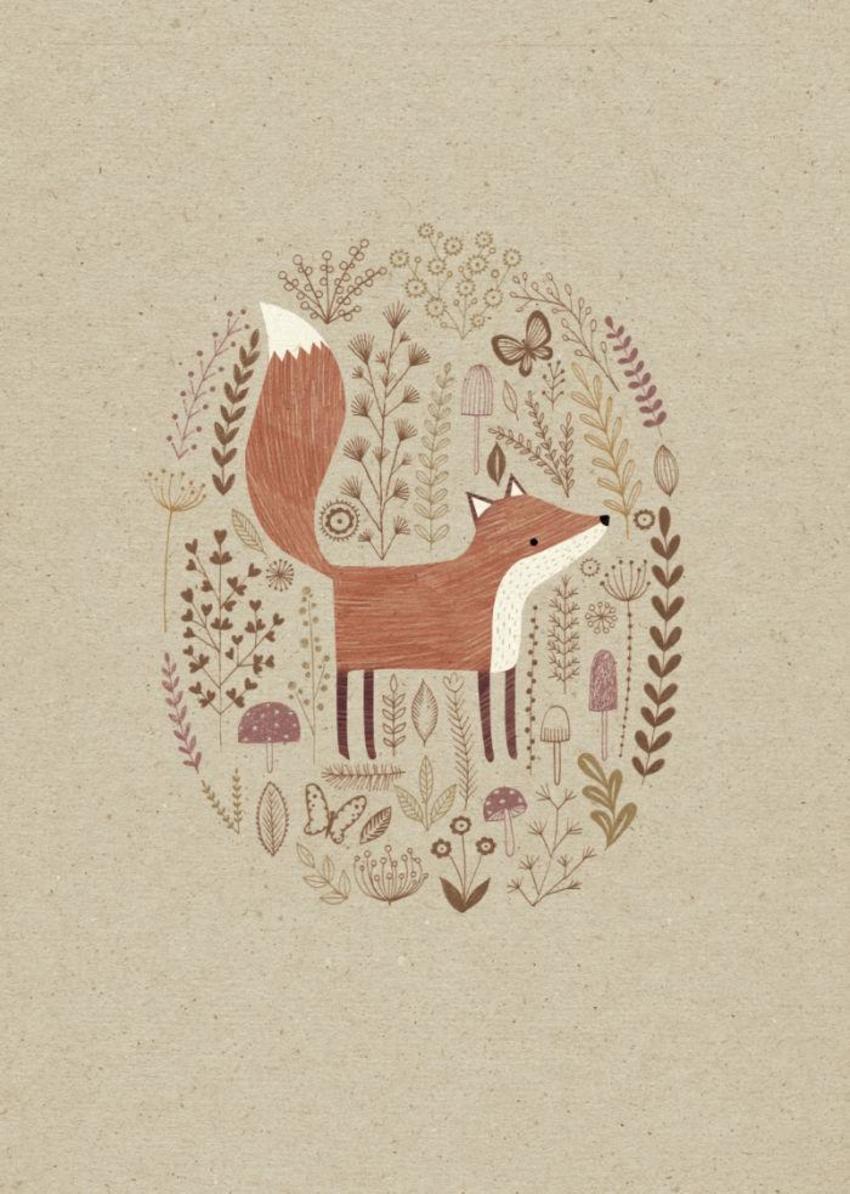 Line Drawing Fox