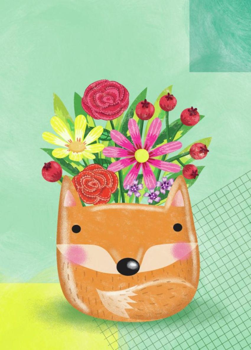 Fox Pot Plant - GM