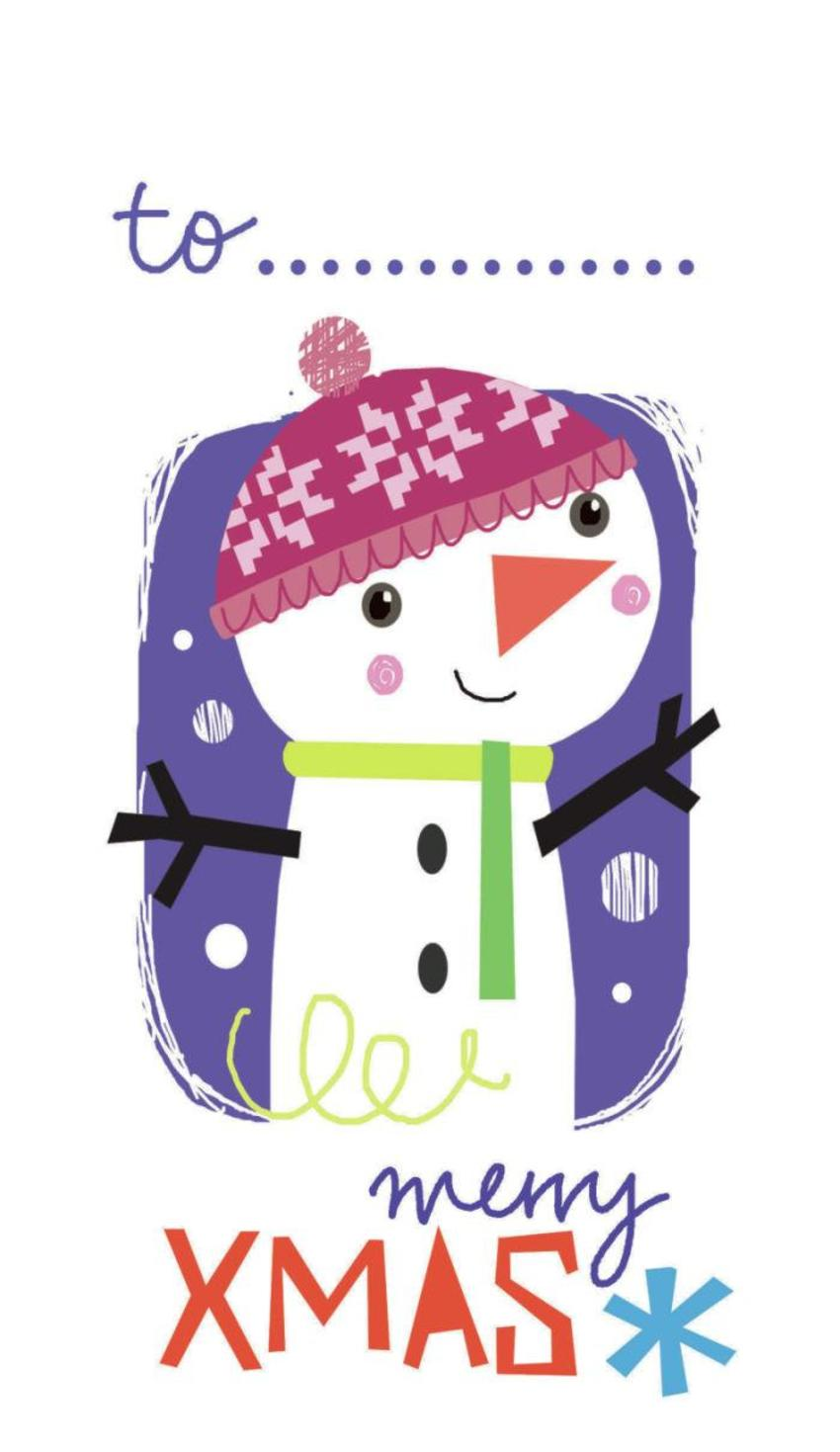 J Schof Snowman Gift Tag 3