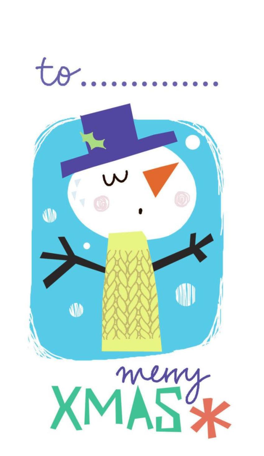 J Schof Snowman Gift Tag 1