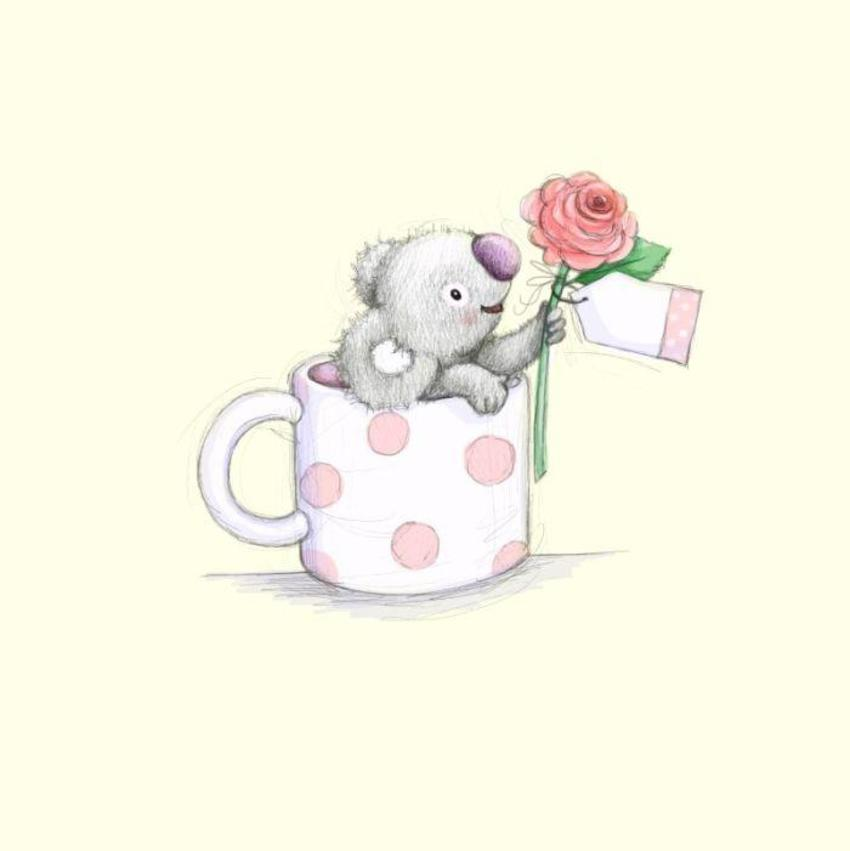 Gail Yerrill Katy Koala In A Mug Cute002