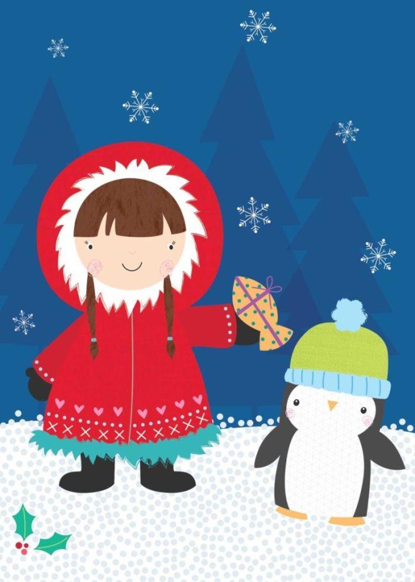 Eskimo And Penguin