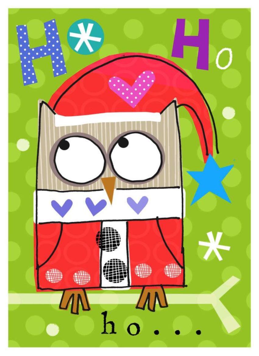 J Schof Christmas Owl Four