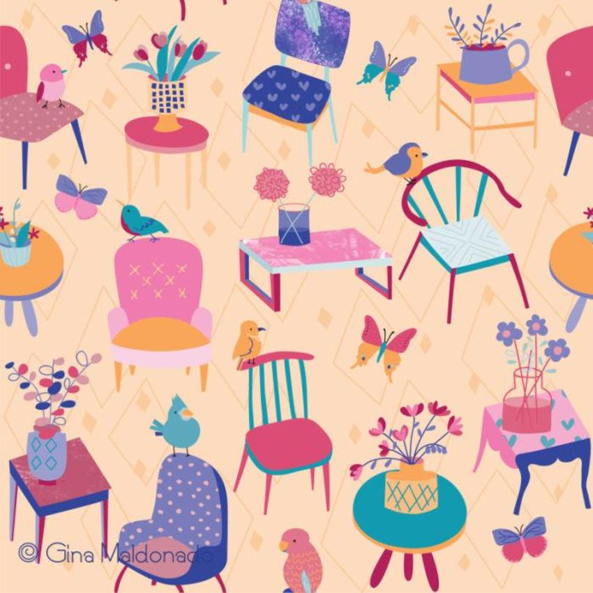 Tables And Chairs Pattern - GM