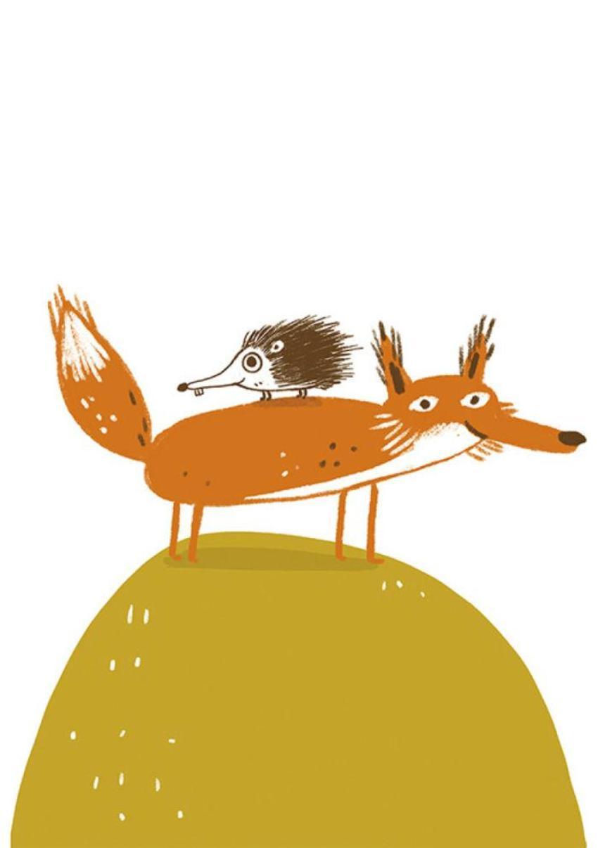 Fox Hedgehog Cute Funny