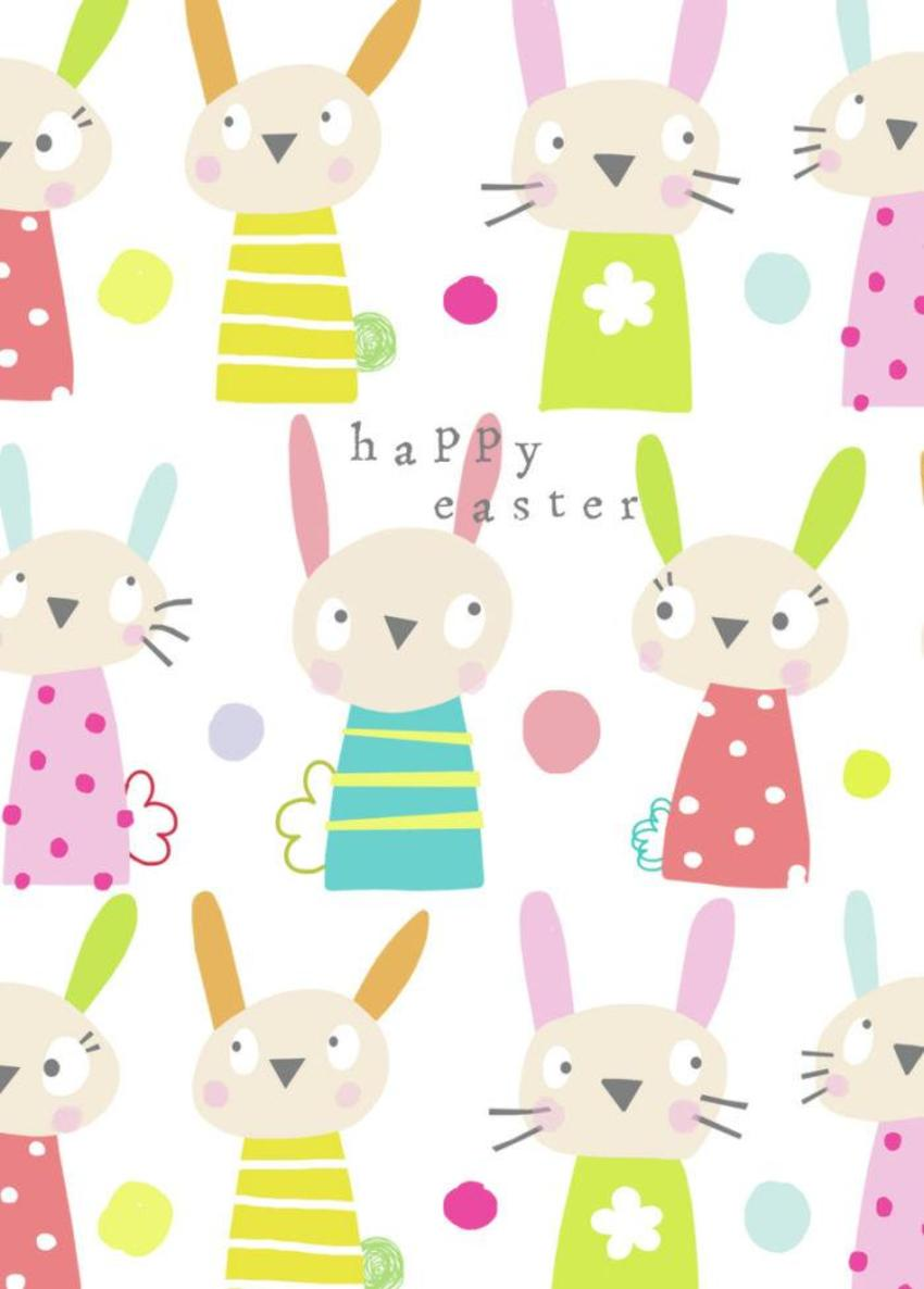 Jayne Schofield Easter Bunnies Card