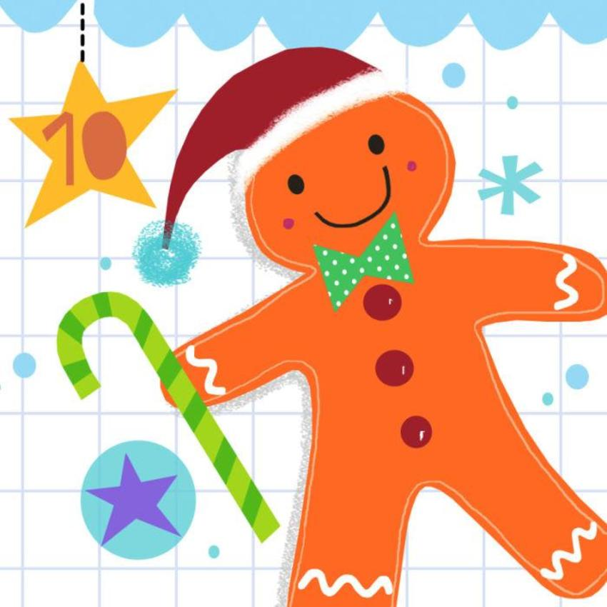 10 Jayne Schofield Christmas Gingerbreadman Advent